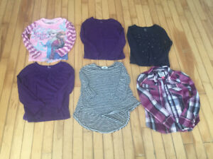 Girls size 5 long sleeve shirts