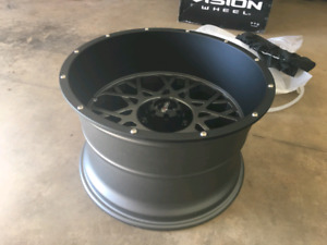 "20x12 -51 5x5.5"" vision wheels 35x12.50 mud tires"