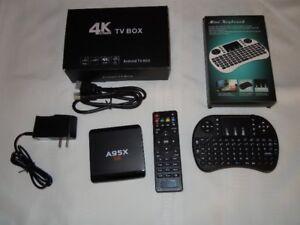 TV Box 4K avec programmation française et mini clavier