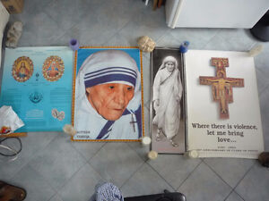 affiche religieuse poster Mere Teresa Calcutta Clare of Assisi