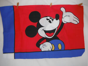 Vintage Disney Mickey Mouse Twin Flat And Fitted Sheets Set