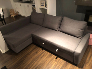 Excellent condition ikea sofa bed sectional on sale..