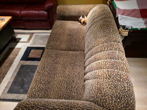 Pull-Out Couch / Sleeper Sofa - Leopard pattern
