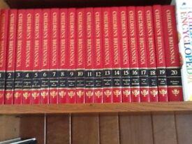 Set of 20 Children's Britannica Leather Bound Books