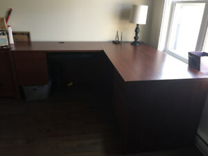 Large L shaped desk