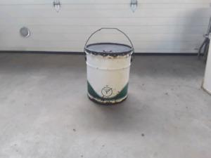 Vintage Texaco oil pail