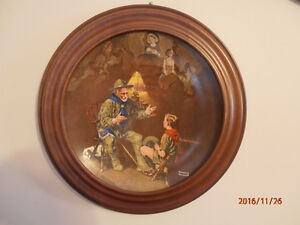 5 NORMAN ROCKWELL PLATE SERIES