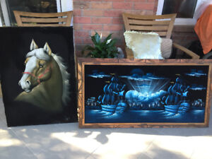 Spectacular original paintings on felt - from $40 Price Reduced