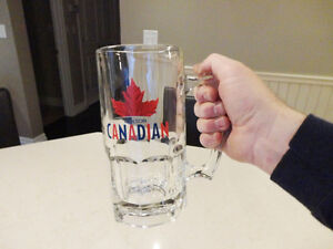 """Huge Molson Canadian Beer Mug in Excellent Shape 8"""" tall"""