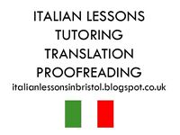 Italian lessons, translation, proofreading