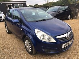 VAUXHALL CORSA 1.2 5DR 2008 IDEAL FIRST CAR CHEAP INSURANCE LOW MILEAGE