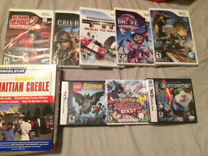 Many Wii games  / jeux Wii et DS / 3DS