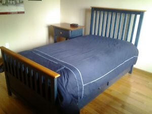 SOLID MAPLE CAPTAIN'S BED & NIGHT STAND