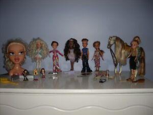 Barbie Bratz cheval boys et tête à coiffer