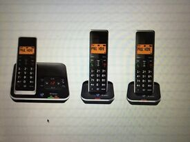 BT Xenon 1500 Cordless Phone with Answering Machine - triple handsets