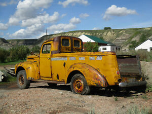 1947 Ford panel school bus converted to truck