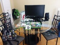 Xbox 360 complete set - 4 controllers, 10 games, TV, TB Headset