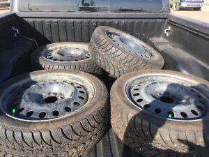 "17""Goodyear UltraGrip Ice WRT with steel rims. Used one winter."