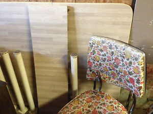 Dining table and chairs $70.