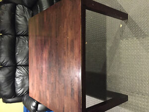 """Dining kitchen table 42"""" square solid wood"""