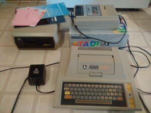 Atari 400 w/410 and 810 mint shape