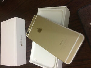 APPLE IPHONE 6PLUS GOLD 16GB IN BOX WITH NEW CASE