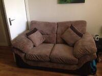 Brown cord sofa