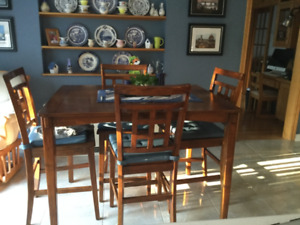 Pub Style Kitchen Table with six chairs