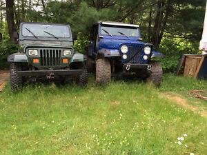 1984 Jeep CJ7 Coupe &1992 yj