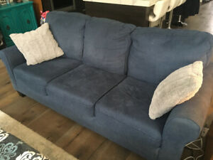 Couch and 2 Lounge chairs with Ottomans for sale