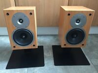 Pair of gale bi wirable speakers with stands