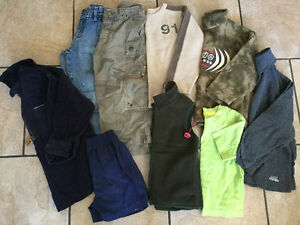 Coats, vests, boots/shoes, clothing bundles boys size 5T-10