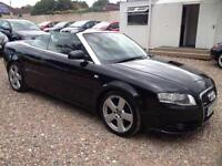 2008 08 AUDI A4 2.0 TDI CABRIOLET S LINE 2D AUTO 141 BHP DIESEL