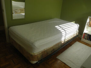 Twin size Bed Frame, Box Spring + Mattress