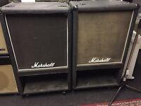 Vintage Marshall bass cabs