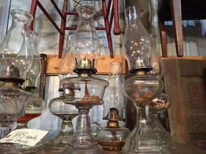 Antique coal oil lamps