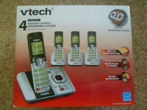 4-Handset Cordless Phones w/ Answering Machine & Mount *BOXED*