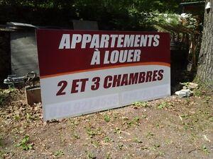 affiche - appartements à louer -