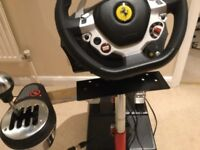 Thrustmaster TX steering wheel, gear shifter, clutch pedals and pro stand