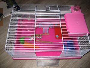 Cage toute équipée pour hamsters nains ou souris