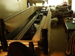 long arm quilting frame and 17 inch long arm sewing machione