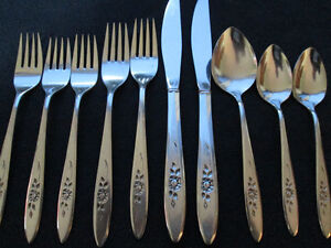 """Rose Shadow"" Community Stainless Steel Cutlery - 10 pcs."
