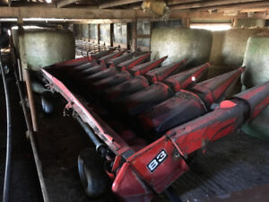 Two Massey Ferguson 83, 8 row corn heads