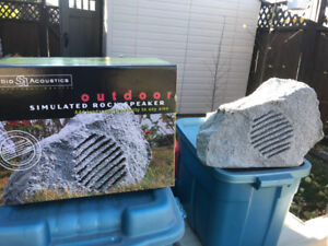 Studio Acoustics MR11 Simulated Stone Outdoor Speakers new