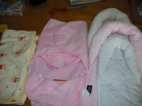 Carseat cushions, swaddling blankets