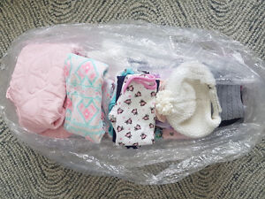 Bag of winter clothes for baby girl