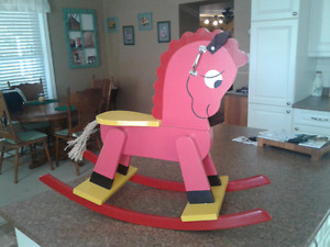 Newly built rocking horse
