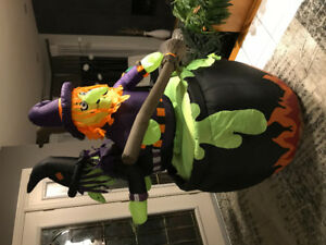 Inflatable and assorted Halloween and Xmas decorations