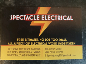 Spectacle Electrical, All aspects of electrical work carried out.