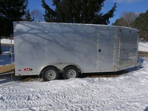 atc all aluminum v nose trailer